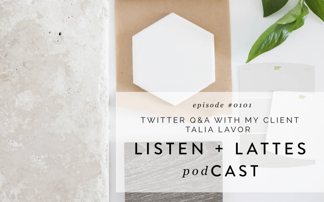 101 | Twitter Q&A with my Client Talia Lavor