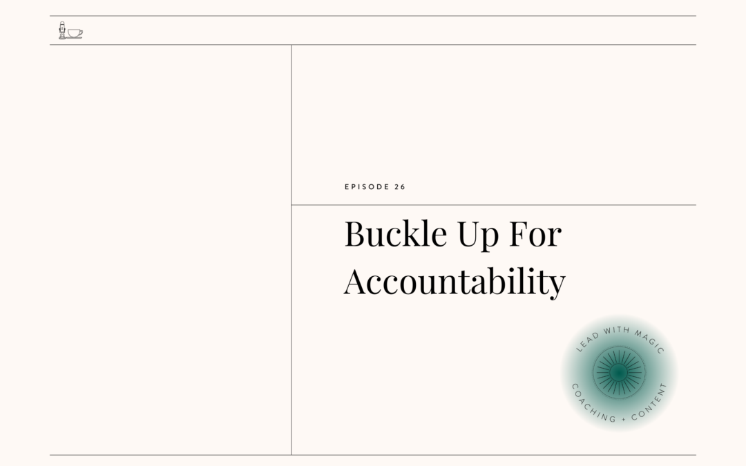 Episode 30: Buckle Up For Accountability